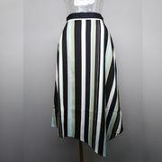マルチストライプ柄スカート