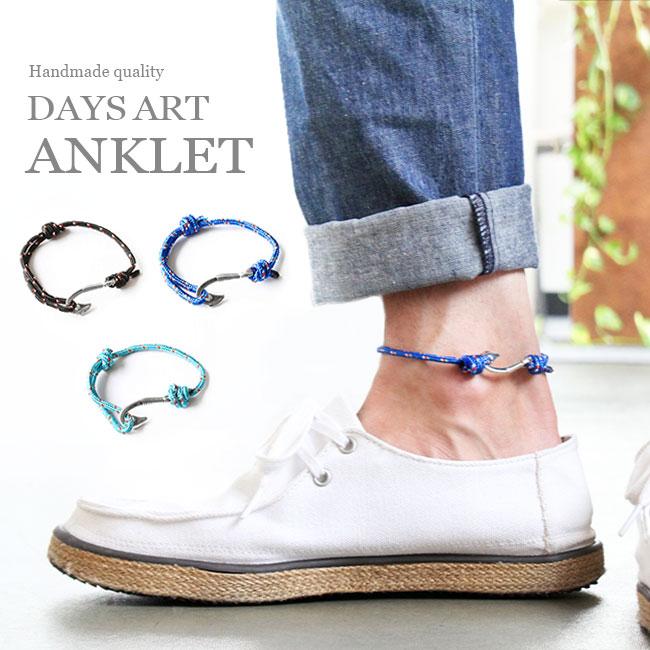 アンクレット ブレスレット メンズ/レディース フィッシュフック フリーサイズ