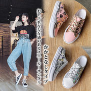 【海外買付】レディース 靴 かかとなし キャンバススニーカー サンダル スリッポン シューズ カジュアル