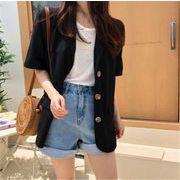 品質改善 高品質新入庫 トレンド 新品 カジュアル 半袖シャツ 単体ボタン スリムフィット コート