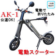 【再入荷】折りたたみ電動バイク AK-1 電動バイク 電動スクーター 原付 公道走行可能