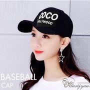 【即納771339】COCO HOLLYWOOD ロゴ刺繍 メッシュキャップ 帽子 男女兼用 CAP