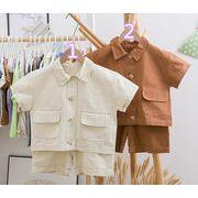 2019年新作★子供服★キッズ服★2点セット★シャツ&ショートパンツ★可愛い ★2色80-130