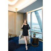 女性らしさ満点の魅力スタイルを 新品 花柄 レースシャツ シフォン スリング ツーピース