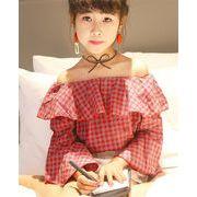 高品質 NEW 韓国風子供服  2019春 ゆったり 長袖  Tシャツ トランペットの袖 シャツ