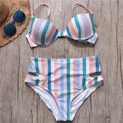 水着 レディース ビキニ 体型カバー セパレート  水泳 海水浴 ビーチ スイム  2点セット
