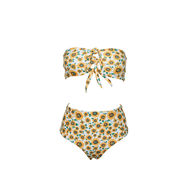 水着 レディース ビキニ 体型カバー セパレート  水泳 海水浴 ビーチ パット付き スイム  2点セット