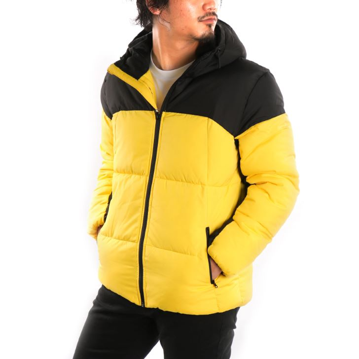 【2019秋冬新作】 中綿ジャケット メンズ ダウンタッチ 切り替え デュスポ ダウンタッチジャケット