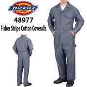 【DICKIES】(ディッキーズ) US企画 Fisher Stripe Coveralls / フィッシャー 長袖つなぎ