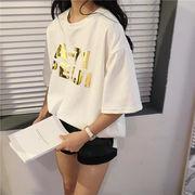 【即納】キラキラ 原宿 派手かわ Tシャツ トップス カットソー 19ss-058【メール便可】2020春夏新作