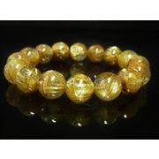 最強品質 現品一点物 極上タイチンルチル ブレスレット 水晶 数珠 13-14ミリ PTR30