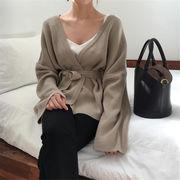 華やかな印象に  トレンド 秋冬物 怠惰な風 ニット カーディガン セーター コート