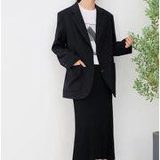 YUNOHAMI テーラードジャケット オフィスカジュアル レディース トップス 面接 通勤 二色展開 就活ビジネス
