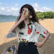 ★最強の新作韓国ファッション可愛 合わせやすい カジュアル 半袖 Tシャツ 女 ブラウス
