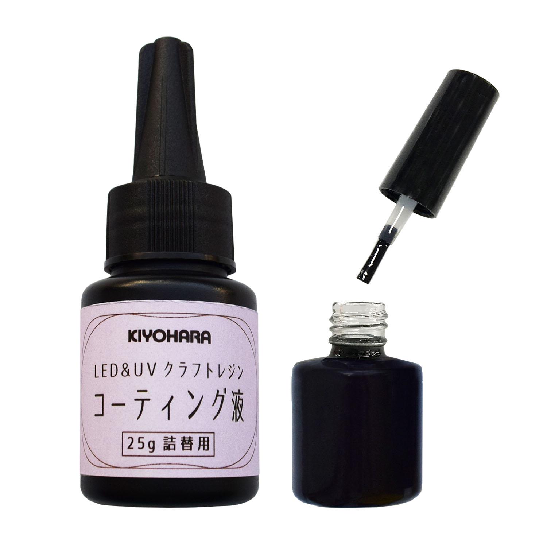 LED&UVクラフトレジンコーティング液 詰替え用25g+刷毛つき空ボトル