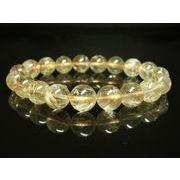 現品一点物お試し価格 ゴールドルチルブレスレット 金針水晶天然石数珠 11-12ミリ RK23