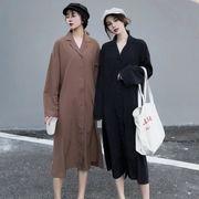 女性服 秋バージョン 韓国風 新しいデザイン ルース 着やせ 気質 ワンピース ハイウエ