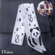一部即納 動物 スカーフ 長方形 マフラー バッグに巻いえり巻き アクセサリー雑貨 バッグ パターン