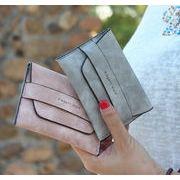 ポーチ 財布 ハンドバッグ 韓国風 マット オシャレ 小銭入れ 小物入れ 6色