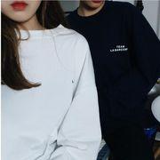 トップス 長袖シャツ Tシャツ 韓国ファッション インナー 純色 オーバーサンズ