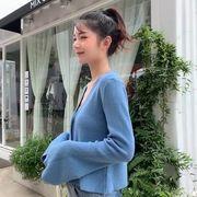 ニット 女性服 新しいデザイン アーリー 秋 アウトドア 襟 ルース 着やせ スピーカー