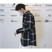 2019年新作★メンズ★トップス★長袖★シャツ★チャック柄★カジュアル★韓国風★4色★M-XXL