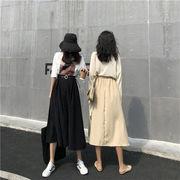 見なきゃ損する ミディアム丈 ハイウエスト スリム エレガント  カジュアル ロングスカート