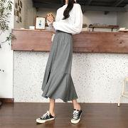魅力100% 春夏新品 フィッシュテイルスカート ゆったりする ファッション エレガント ロングスカート
