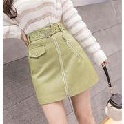 大人の魅力/上品 女性らしい エレガンス  キャンディーカラー ミニスカート Aライン スカート