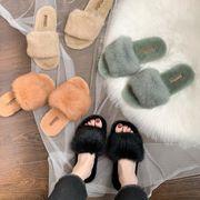 新作 靴 スリッパ 兎毛 韓国 レディース ファッション ファー INS