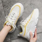 人気新作 スニーカー レディース 厚底 ローカット シューズ  靴  スポーツ靴 脚長 美脚