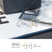 【即納】【リング】全2色!ワイドトップメタルリング指輪[kgf0533]