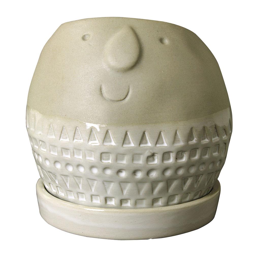 Maske ラウンドプランター Lサイズ グレー