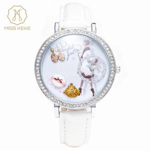 腕時計 レディース Miss Keke レディース腕時計 ケケ KK1031 ラインストーン ファッションウォッチ