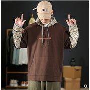 【大きいサイズM-5XL】ファッション/人気トップス♪ダークブルー/ブラウン2色展開◆