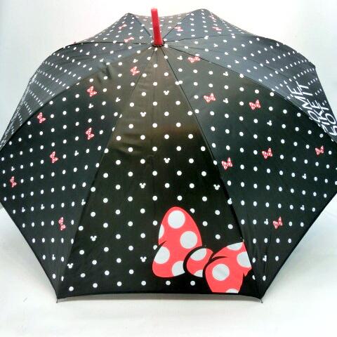 【雨傘】【ジュニア用】55cmミニービッグリボン柄ジャンプ傘