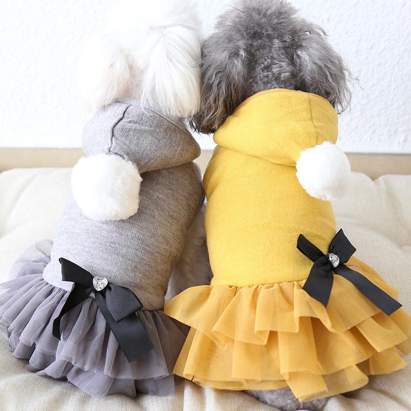 秋冬新作 犬服  ワンピース ワンちゃん服 ドッグウェア 犬 猫服 猫 ペット用品 (XS-XL)