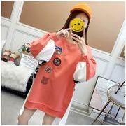 【大きいサイズ】ファッション/人気トップス♪オレンジ/ブルー2色展開◆