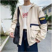 【大きいサイズM-5XL】ファッション/人気ジャケット♪ブラック/カーキ2色展開◆
