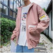 【大きいサイズM-5XL】ファッション/人気ジャケット♪ホワイト/ピンク2色展開◆