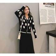 【大きいサイズXL-4XL】ファッション/2枚セットセーター♪ブラック/オレンジ2色展開◆