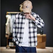 【大きいサイズM-5XL】ファッション/人気ワイシャツ♪アカ/ホワイト2色展開◆