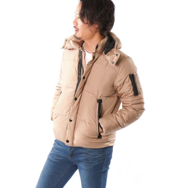 【2019秋冬新作】 G2ジャケット メンズ ダウンタッチ 中綿 フード脱着 グレンチェック柄 迷彩 カモフラージ