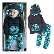 カード ホーム 欧米 外 春秋 男 赤ちゃん 赤ちゃん 子供 耳 帽子付き セーター キ