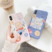 iphone XR ケース 熊 スマホカバー 犬 アイフォンケース