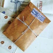 格安☆紙物★ラッピング★ビンテージ◆収納袋◆紙袋◆封筒◆ハトロン紙11*16cm◆アンティーク50枚