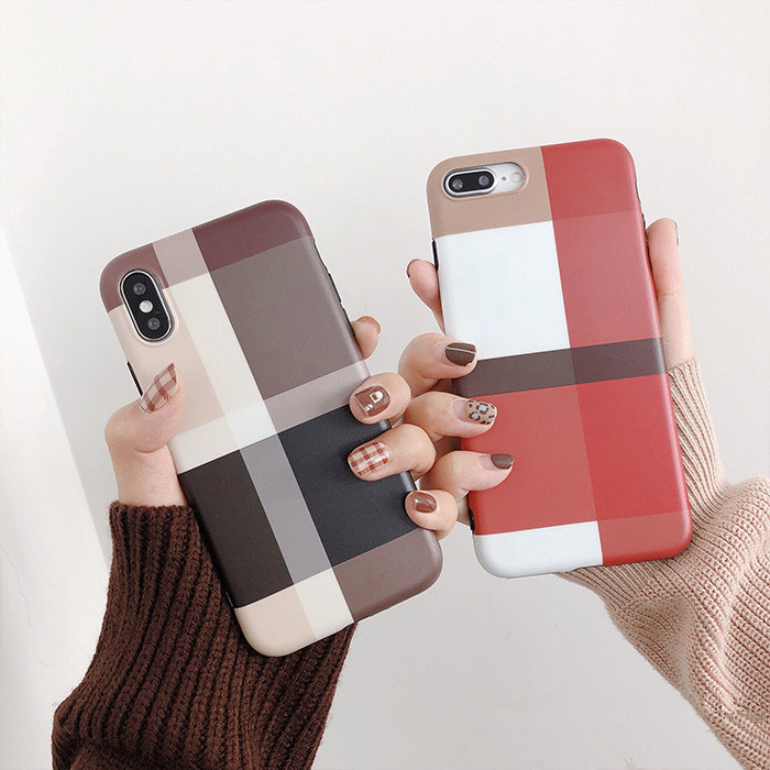 iPhone ケース スマホケース チェック柄iPhone カバー