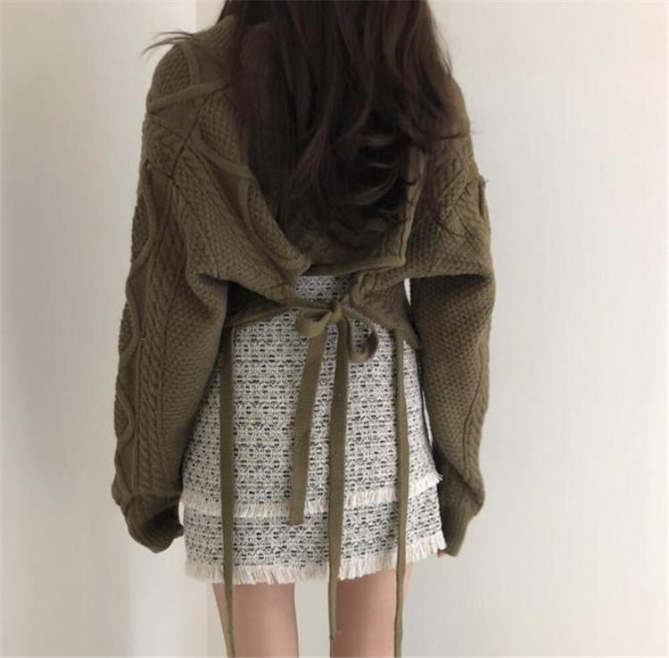 実物画像あり 新作 大人気 新品 短いスタイル 長袖 怠惰な風 背透けて スリム セーター