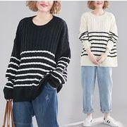【秋冬新作】ファッションセーター♪ブラック/ホワイト2色展開◆