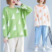 【秋冬新作】ファッションセーター♪グリーン/ブルー2色展開◆